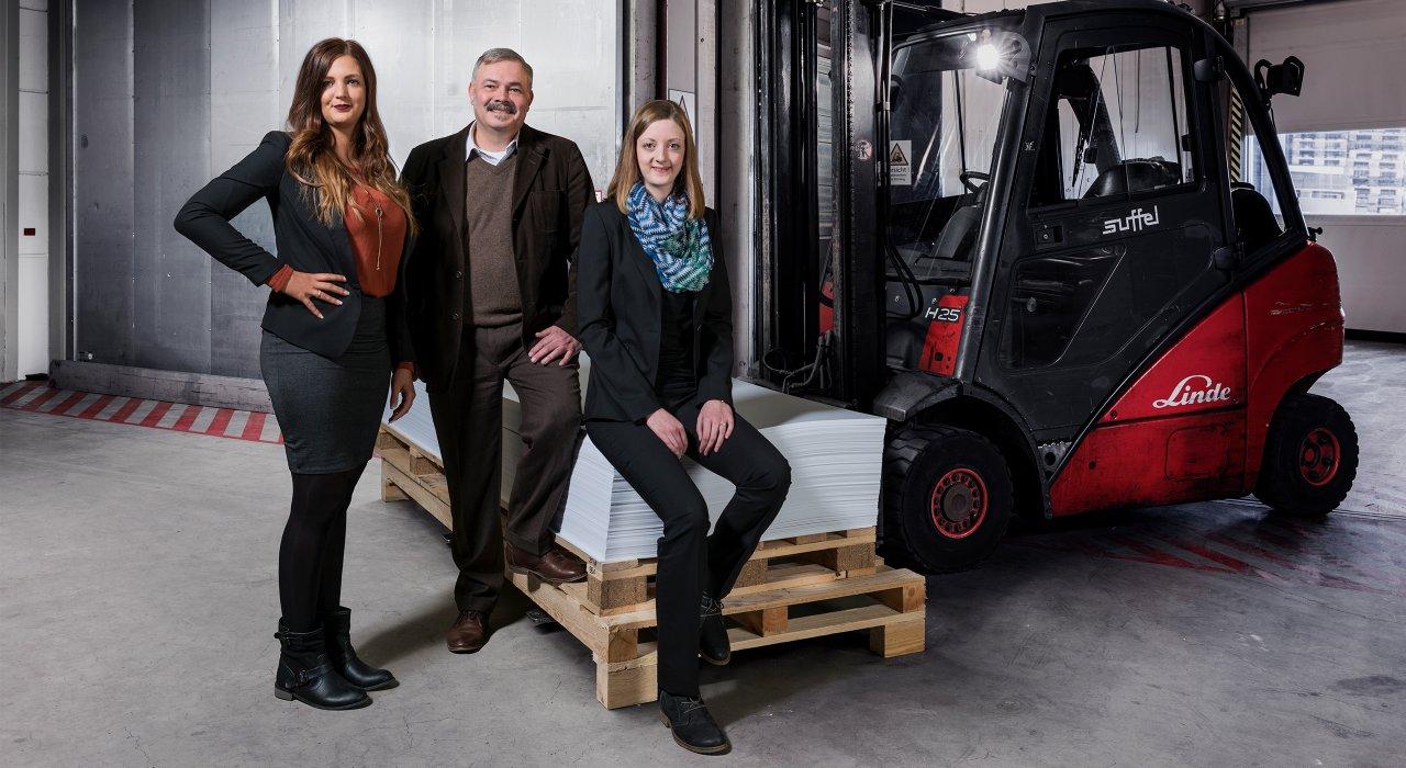 Das Einkaufsteam der IFFLAND AG aus Ann-Christin Reutzel, Michael Wolf und Sabrina Wirth.