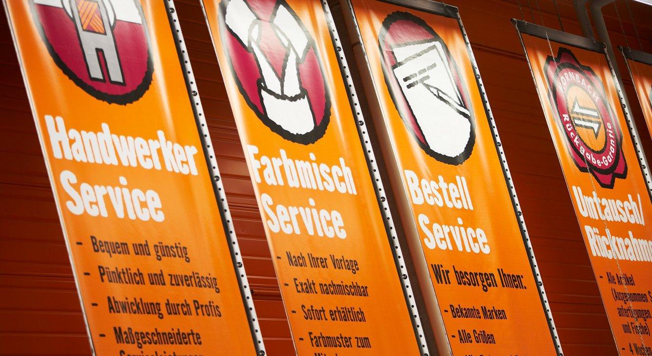 Hornbach Beschilderung Service