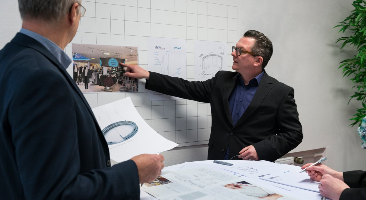 Entwicklungsrunde der IFFLAND AG zur Planung neuer Produkte und Projekte.