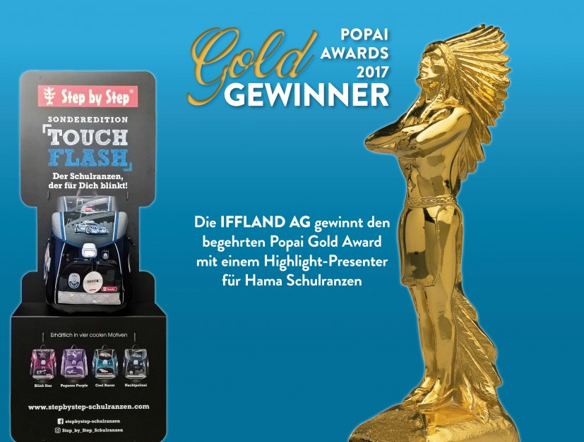 Popai Gold Award für das Hama Ranzen-Display