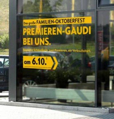 Opel Schaufensteraufkleber Oktoberfest